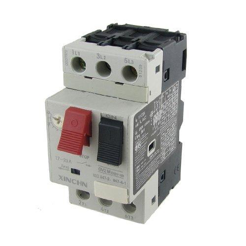 DealMux 3P Motor Starter Circuit Breaker Protector, 17-23 Amp, 690V (20 Amp Circuit Breaker)