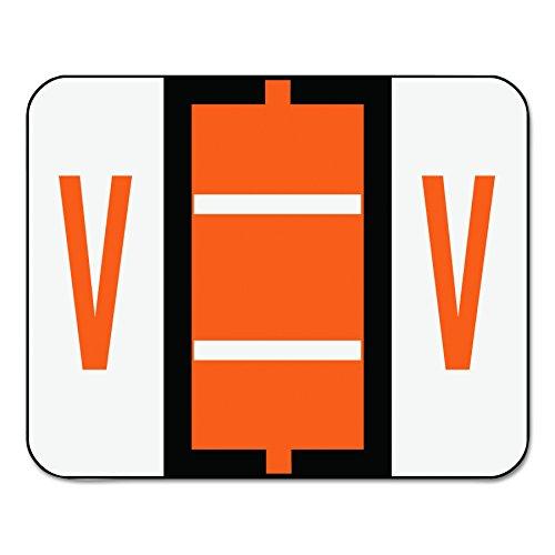 Smead BCCR Bar Style Color Coded Labels V - Dark Orange 500pieza(s) - Etiqueta autoadhesiva (31,8 mm, 25,4 mm, 500 pieza(s), 1 hojas)
