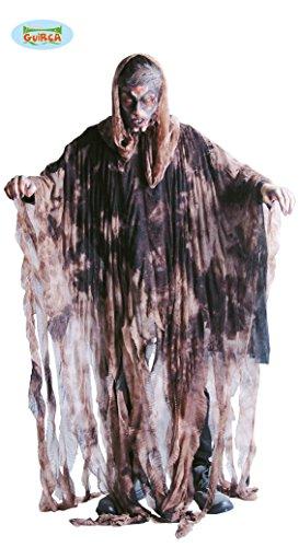 Wintergeist Kostüm für Herren Geister Halloween Herrenkostüm Winter Schnee Geist weiß Sensenmann Gr. M/L, - Halloween-sensenmann Geist