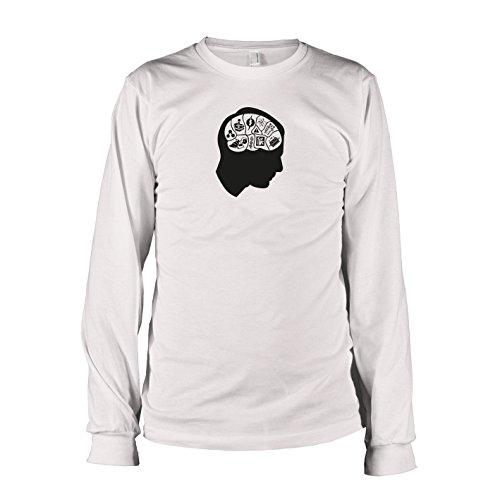 TEXLAB - TBBT: Sheldon's Brain - Langarm T-Shirt, Herren, Größe XXL, weiß