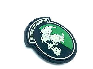 Military Sans Frontieres Brillent Dans Le Noir Metal Gear Solid PVC Airsoft Velcro Patch