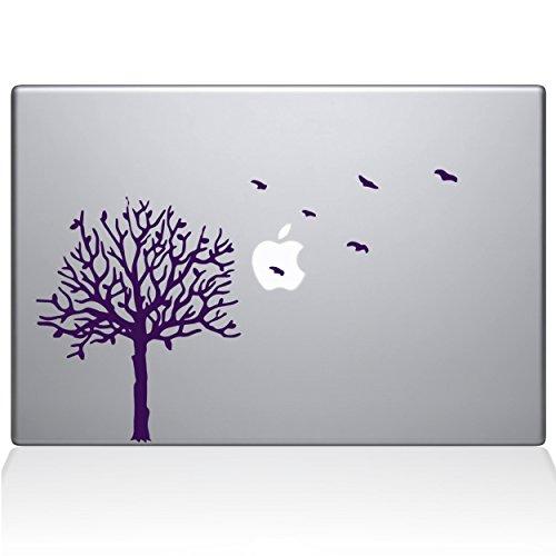 The Decal Guru 2094-MAC-13X-LAV Baum mit Vögeln, Vinyl-Aufkleber, Lavendel, 33 cm (13 Zoll) MacBook Pro (2016 und Neuer) - Baum Mac Decal