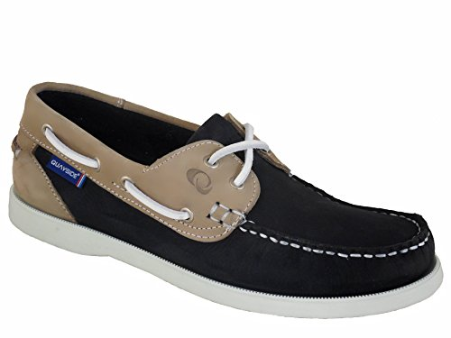 QUAYSIDE , Damen Bootsschuhe blau Marineblau/Sand, blau - Marineblau/Sand - Größe: 40