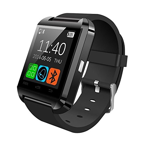 iN TECH Smart Wrist Watch Compatible with Android/iPhone - Smartwatch Compatible with Bluetooth Smartphones for Men/Women with LCD Touch Screen with Mail, Calendar, Messages, Music and More (Black)