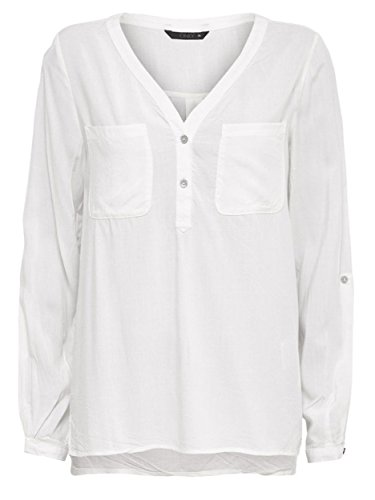 Only Onlnova L/S Shirt Solid Vis Wvn, Blouse Femme creme-weiß (Cloud Dancer)