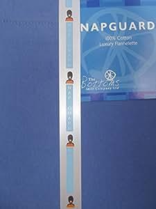Napguard thermique Bleu foncé Flette de lit King Size avec drap-housse en flanelle 100% coton Naturel