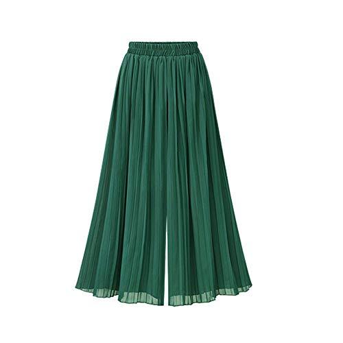 Haremshose Damen Sommerhose Damen Leicht Pumphose Culottes Hosen Boho Hose Plus Size Chiffon Weites Bein Umstandshose Hippie Kleidung Haremshosen Frauen Aladinhose (Green, 3XL) (Kombinieren Soldat Kostüm)