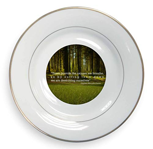 Sentiments From The Soul Trees Quote Gold Rim Plate in Gift Box Rim Plate