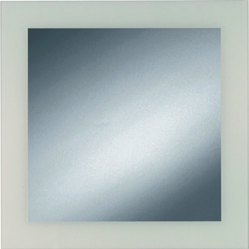Kristall-Form 25010144 - Specchio serigrafato Toba, accessori di fissaggio non montati, inclusi, colore: Opale