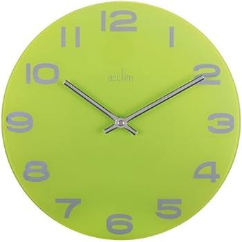 Acctim 21895 Abingdon Wall Clock, Lime Green: Amazon.co.uk ...