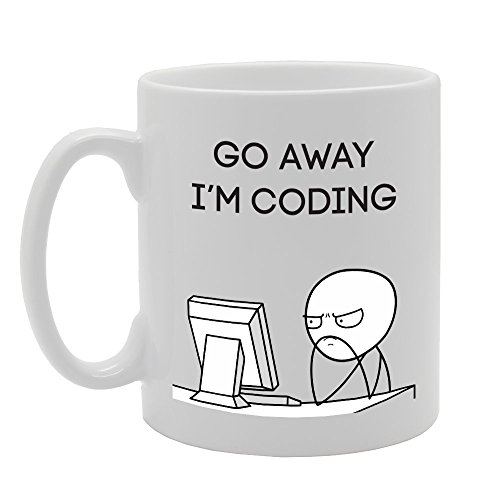 MG3467 Go Away I'm Coding Novelt...