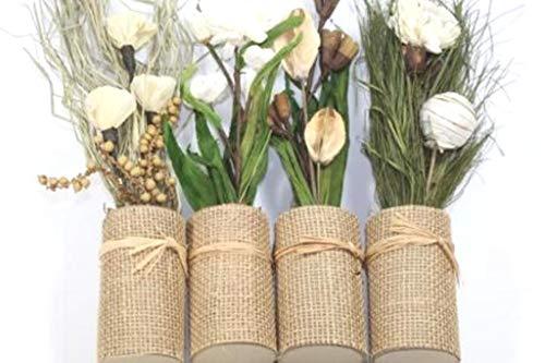 Fiori e erbe secchi artificiali La bolata Künstliche Blumen und Kräuter aus Seide und Kunststoff 4 Stück von 31 cm Schweinchen Blumen Finten. -