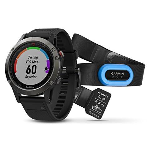41xSo7%2BfsFL. SS500  - Garmin fenix 5 Wearable Performer Bundle/Premium HRM-Run Brustgurt grey/black 2017 bike computer with heart rate monitor