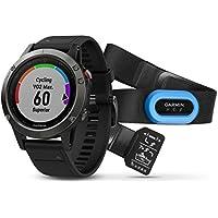 Garmin fenix 5 Wearable Performer Bundle/Premium HRM-Run Brustgurt grey/black 2017 bike computer with heart rate monitor