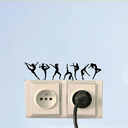 Wandtattoo Gymnastik Mädchen Mode Wohnkultur Wandaufkleber Lichtschalter Aufkleber Vinyl