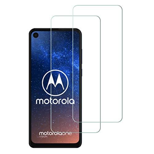 Aerku Panzerglas Schutzfolie für Motorola Moto One Vision,2.5D Curved Hartglas HD Glas Ultra Clear 9H Härte Panzerglas Screen Bildschirmschutzfolie für Moto One Vision[2Stück]-Transparent