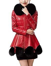43e7b061a5 Amazon.it: collo pelliccia - Rosso / Giacche / Giacche e cappotti ...