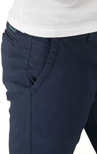 WOTEGA Herren Chino Hose Pattern - Slim - Chinohose gemustert Blau (Dress Blues 194024)