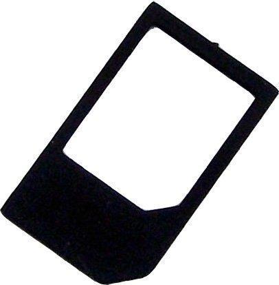 Micro Sim zu Standard Sim Adapter in schwarz - Dealbude24