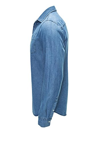 Jack & Jones Originals Jeanshemd Langarmhemd Freizeithemd Medium Blue Denim