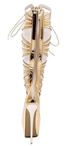 SONGYUNYANCroix de style romain Lady sandals de nuit creux talons lanières club 1