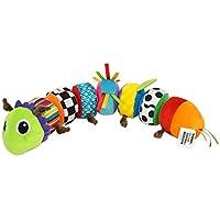 """Lamaze """"Softes Raupenpuzzle"""" Babyspielzeug zur Förderung der motorischen Fähigkeiten – Buntes Lernspielzeug aus mehreren Elementen zum Heranführen an Farben – Ab 6 Monate"""