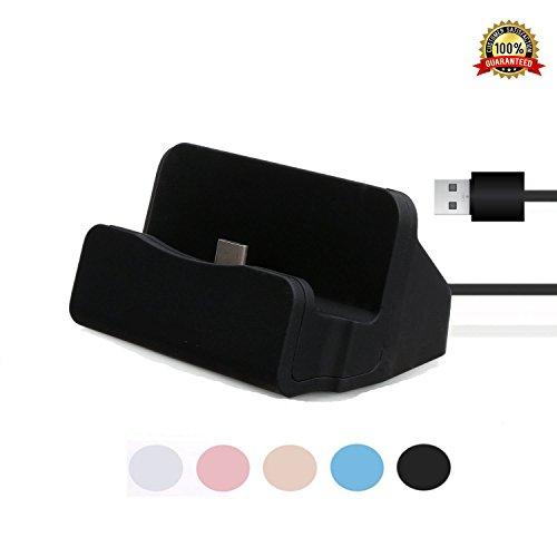USB Ladegerät Charger Dock,YooGoal TYPE-C Ladestation mit USB-C 3.1 Dockingstation Handy Halterung Data Sync-Ladekabel für Samsung Galaxy S8, OnePlus , Huawei P9 P10, LG G5, HTC 10, Google Pixel, Xperia XZ P XZs Z5 und weitere USB-C-Smartphone - Schwarz