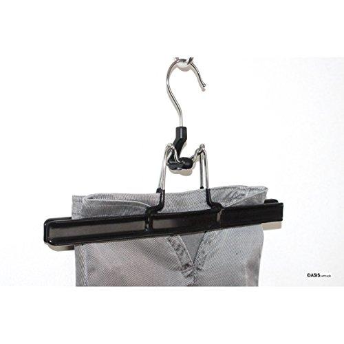 In metallo resistente filo grucce per pantaloni-12Pz-4Set A. 3pezzi-rilegatura Eurobar kunststoffmantel