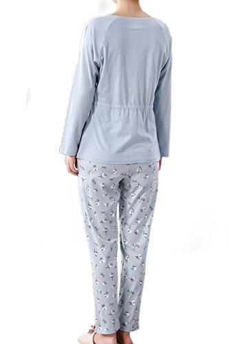 Wkconquer - Ensemble de pyjama - Femme bleu clair