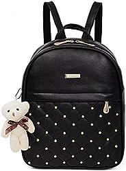 TYPIFY® PU Leather Teddy Keychain Women Backpack Handbag