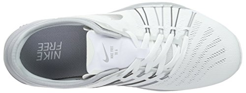 Nike Free Trainer 6, Chaussures de Fitness Femme Blanc (White/Metallic Silver/Wolf Grey)
