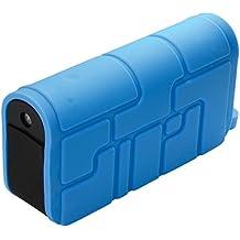 Ye!! Energy Xtreme - Cargador portátil con USB para smartphones y tablets (silicona, con luz integrada, 2,1A, 5600 mAh), color azul