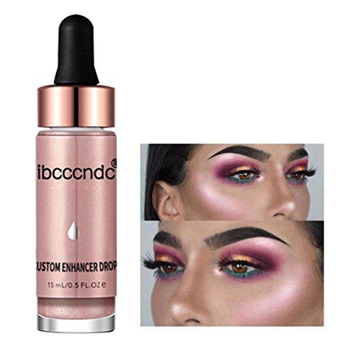 YUYOUG Femmes Visage Glow Glitter Concealer Liquide Surligneur Santé Shimmer Maquillage (B)