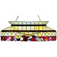 Meyda Tiffany 81,28 (32 cm-Pendente rettangolare da biliardo, taglia L, colore: bordeaux