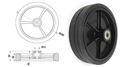 Zabi Räder für mähmaschinen Mäher / Räder für rasenmäher d = 200 mm Kugellager