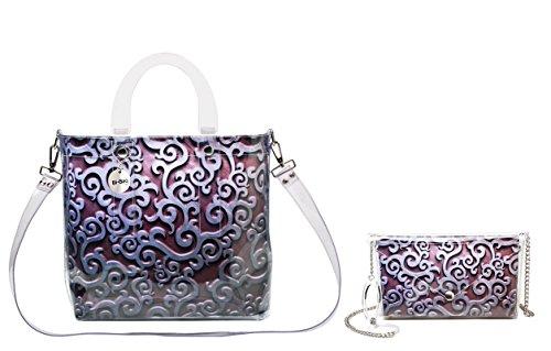 """BI-BAG borsa donna modello DAILY """"METAL COLLECTION"""" Bordeaux"""