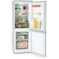 Klarstein Bigpack • Combi réfrigérateur-congélateur • Capacité 160 l • Réfrigérateur 115 l • Congélateur 45 l • 3 tiroirs congélateur • 42 DB • Température en continu • 1 bac à glaçons • Argent