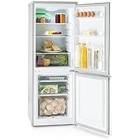 Klarstein Bigpack Nevera Congelador Combinado • Capacidad 160 litros • Congelador 45 L • 3 estantes • Silencioso 42 dB • Ajuste de Temperatura • 1 x Bandeja de Cubitos • Plata