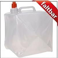 Wasserkanister faltbar Marke Ganzoo 10 Liter Fassungsverm/ögen Faltbeh/älter mit Tragegriff und verschlie/ßbarem Hahn