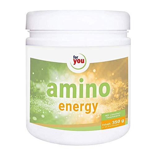for you amino energy I Aminosäuren Pulver mit Citrullin Malat Taurin Koffein aus Mate-Tee Extrakt ideal als Pre-Workout Booster für mehr Energie Konzentration I Aminosäure Nahrungsergänzung 350g