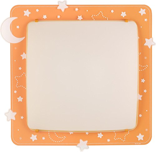 Dalber 43236j coperte/lampada da parete, Metallo, Arancione, 41.5x 41x 75cm