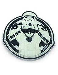 Empire Poppin Rebels Droppin Stormtrooper Blanco Brillo en la Oscuridad Velcro PVC Parche