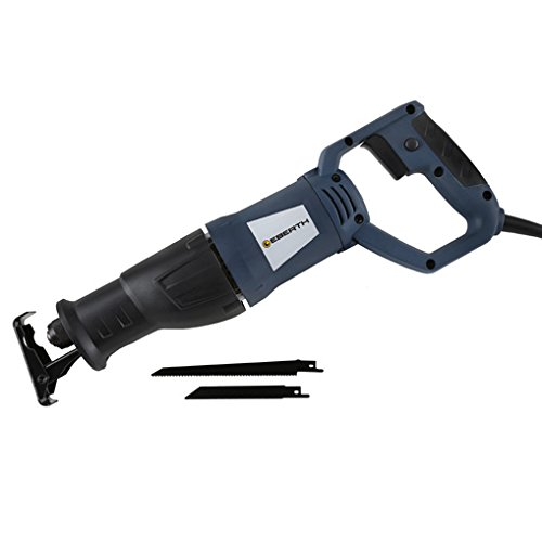 Preisvergleich Produktbild EBERTH 750 W Säbelsäge Universalsäge Reciprosäge Tigersäge Elektrosäge (2800 Hübe/min., Schnitttiefe max. 115 mm Holz & 8 mm Metall, Hublänge 30 mm, jeweils ein Metall & Holz Sägeblatt inkl.) blau-schwarz
