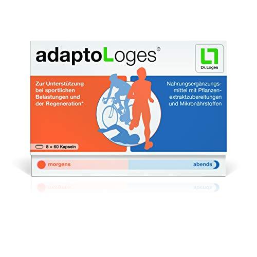 adaptoLoges von Dr. Loges, 480 Kapseln (PZN 11865921) Mit Rosenwurz (Rhodiola rosea) zur Unterstützung bei sportlichen Belastungen und der Regenerationsphase -