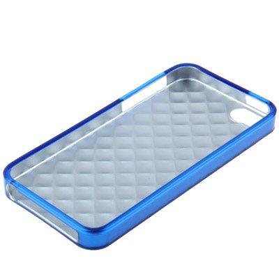 IPhone 5/5S coque de protection en silicone en 3D bleu grid-style pattern par «-original tHESMARTGUARD-