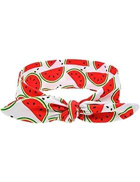 CuteOn Bambino Frutta Modello Fascia per capelli Nastro Turbante avvolgere Ragazze Cerchietto per capelli Anguria