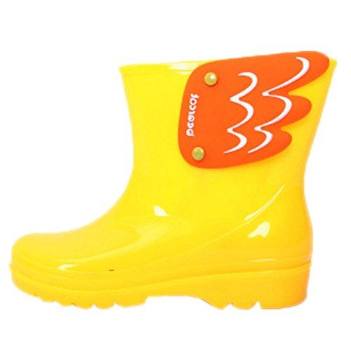 Beleg mit weichen Sohlen Overshoe In Schlauch aus Kunststoff Regen Stiefel - Regen Stiefel Kleinkind-gelb