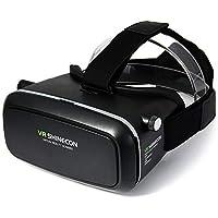 في ار شاينكون، نظارة الواقع الافتراضي مزودة بسماعة راس تتوافق مع هواتف ايفون واندريود ومع جهاز تحكم عن بعد