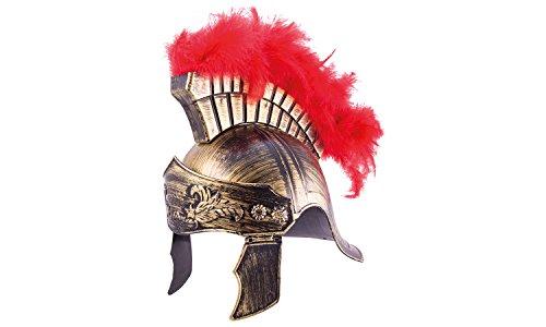 Erlebnis Mittelalter Helme für Kinder / Karneval / Fasching / Ritter / Wikinger / Römer (Römerhelm royal aus Kunststoff) -