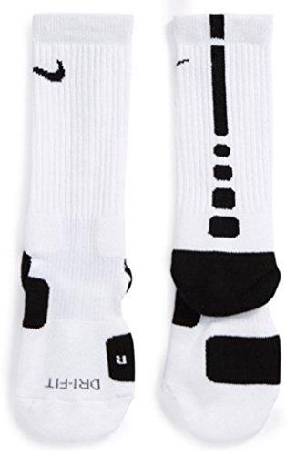 Nike Unisex Erwachsene Elite Basketball Crew SMLX Socken L weiß/schwarz